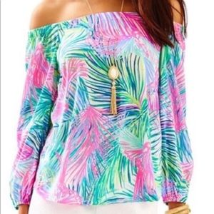 Lilly Pulitzer Adira top 90% silk size M!